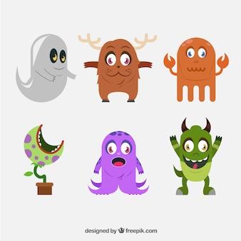Kolekcja cute potwory