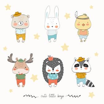 Kolekcja cute zwierząt dla dzieci