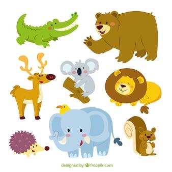 Kolekcja cute zwierząt