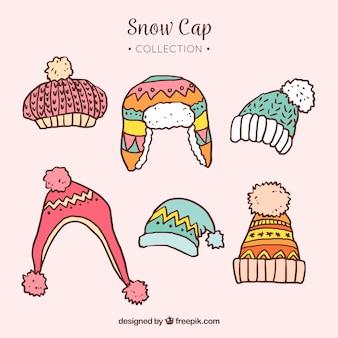 Kolekcja czapkę śnieżną
