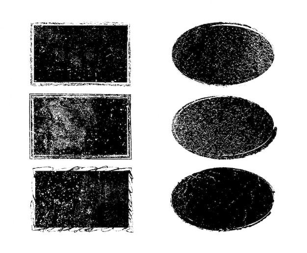 Kolekcja czarnych ramek