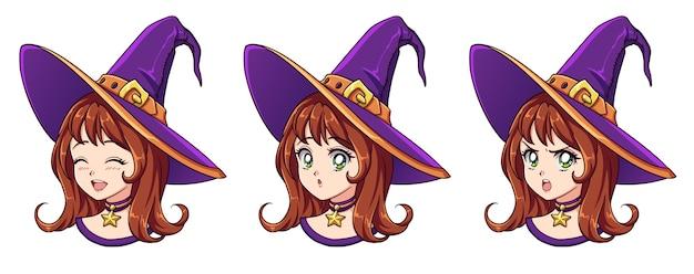 Kolekcja czarownic kawaii