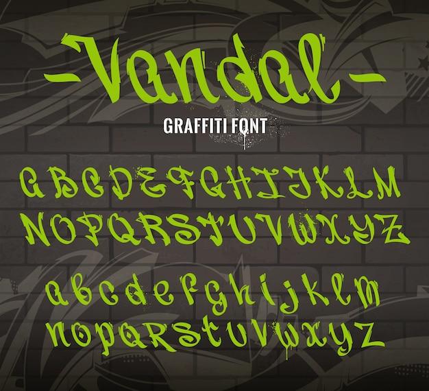 Kolekcja czcionek graffiti