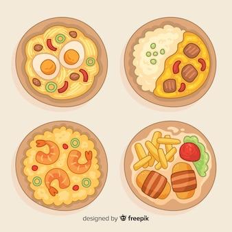 Kolekcja danie żywności