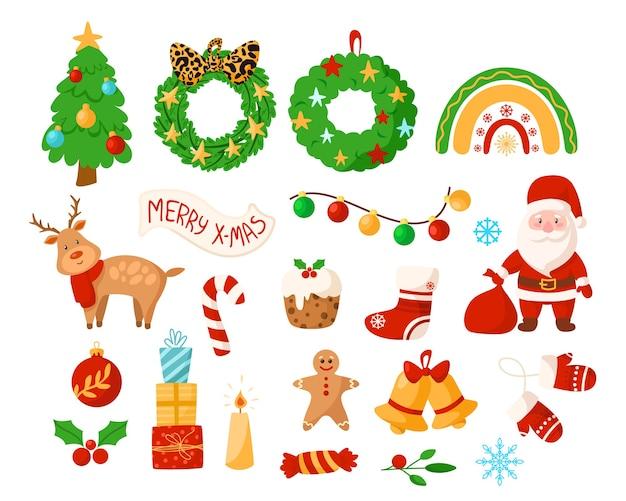 Kolekcja dekoracji świątecznych i ozdób