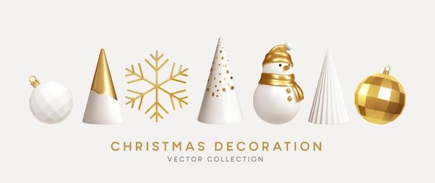 Kolekcja dekoracji świątecznych