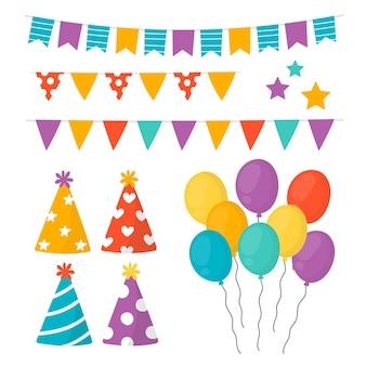 Kolekcja dekoracji urodzinowych