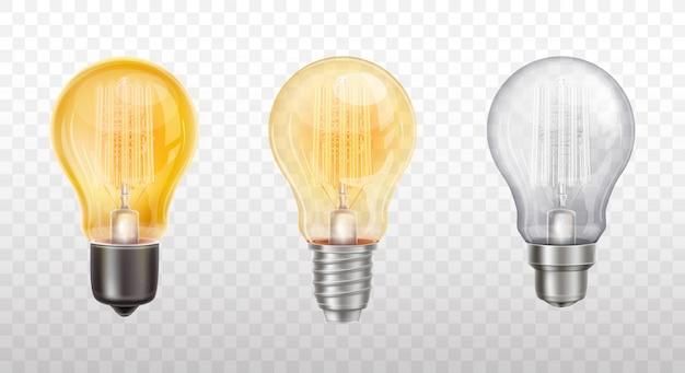 Kolekcja dekoracyjnych żarówek, lamp