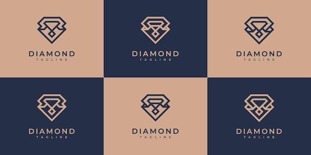 Kolekcja diamentowych logo.