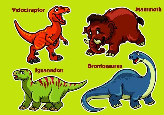 Kolekcja dinozaurów kreskówek