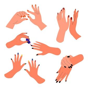 Kolekcja dłoni do manicure