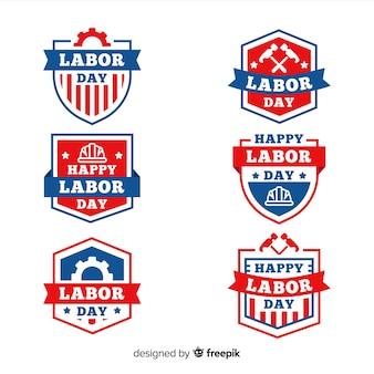 Kolekcja dni roboczych odznaki płaska konstrukcja