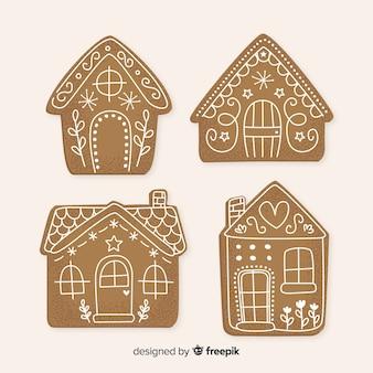 Kolekcja domków z piernika