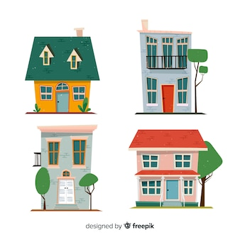 Kolekcja domów wyciągnąć rękę