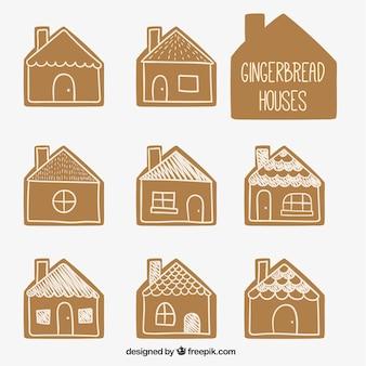 Kolekcja domów z piernika