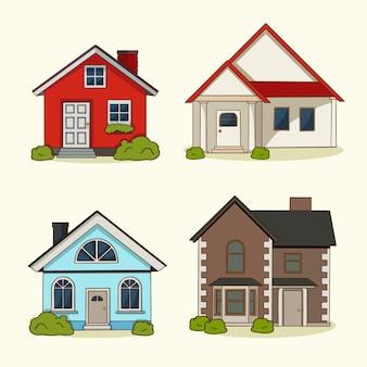 Kolekcja domu płaska konstrukcja