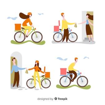 Kolekcja dostawy rowerów
