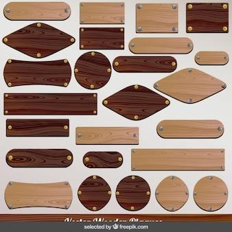 Kolekcja drewniane tablice