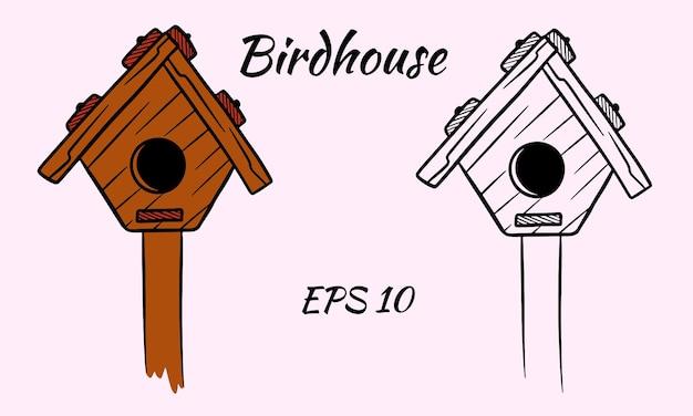 Kolekcja drewnianej budki dla ptaków