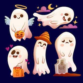 Kolekcja duchów halloween