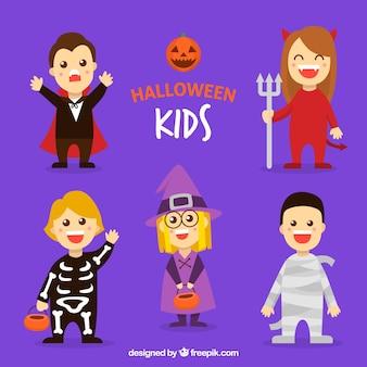 Kolekcja dzieciaków na halloween