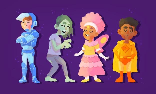 Kolekcja dziecięca festiwalu halloween