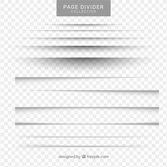 Kolekcja dzielników strony bez tła