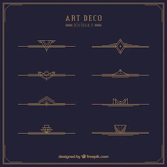 Kolekcja dzielników w stylu art deco