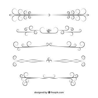 Kolekcja dzielników w stylu kaligraficznym