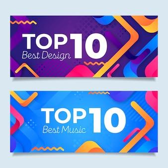 Kolekcja dziesięciu najlepszych banerów rankingowych