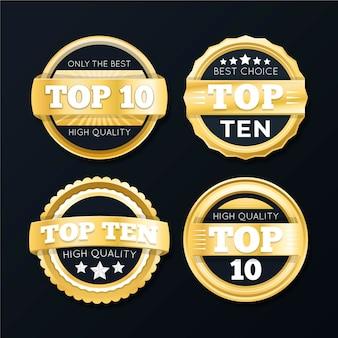 Kolekcja dziesięciu najlepszych etykiet