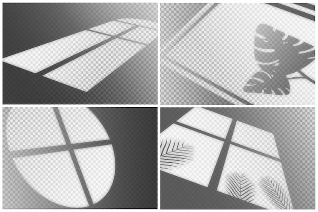 Kolekcja efektu nakładki przezroczystych cieni