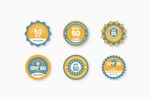 Kolekcja ekologicznych płaskich odznak uv