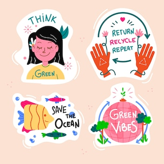 Kolekcja ekologii zielone etykiety