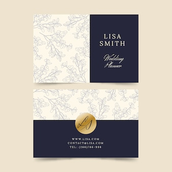 Kolekcja elegancki szablon wizytówki
