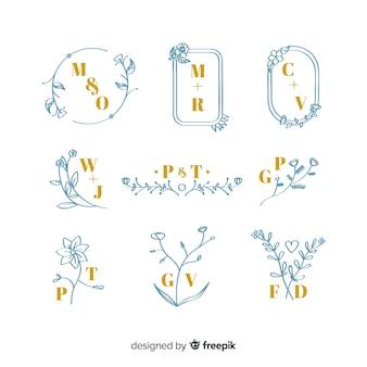Kolekcja eleganckich monogramów ślubnych
