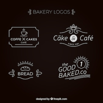 Kolekcja eleganckich piekarni logo