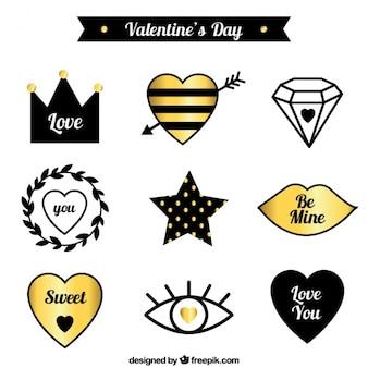 Kolekcja eleganckich valentine ozdoby