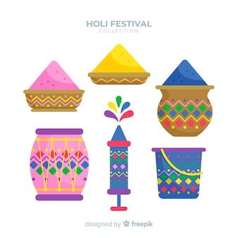 Kolekcja element festiwalu holi