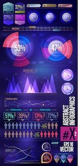 Kolekcja element infographic firmy