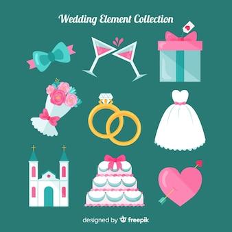 Kolekcja element płaski ślub