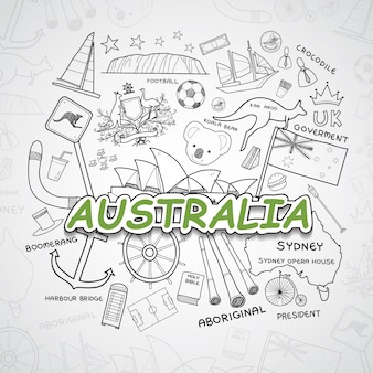 Kolekcja elementów australii