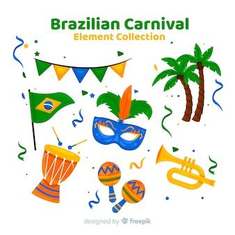 Kolekcja elementów brazylijskiego karnawału