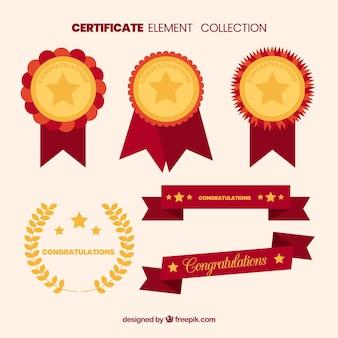 Kolekcja elementów certyfikatu