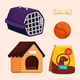 Kolekcja elementów dla psów