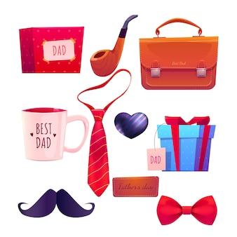 Kolekcja elementów dzień ojca kreskówka