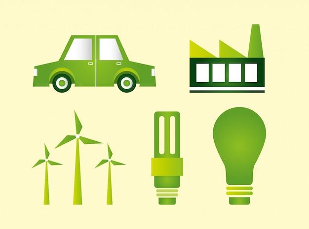 Kolekcja elementów ekologicznych