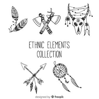 Kolekcja elementów etnicznych