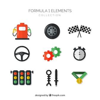 Kolekcja elementów formuły 1