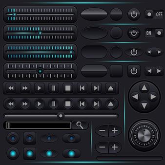 Kolekcja elementów graficznych interfejsu użytkownika